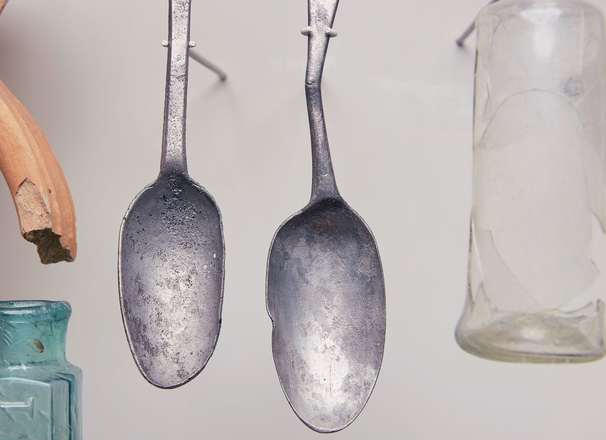 Dining at Chez Muffy - Hanging Silver Spoon Artefacts