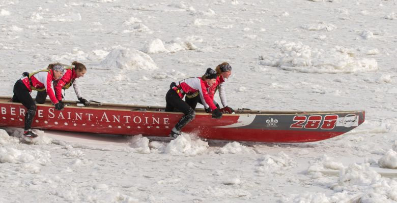 Ice Canoeing