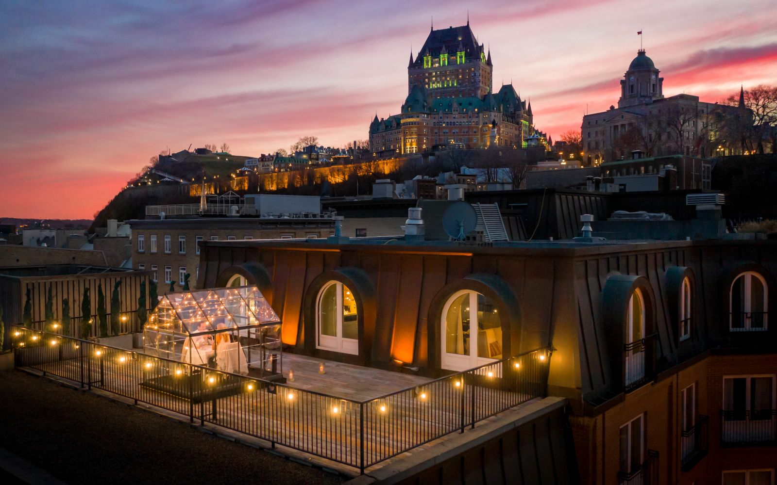Sunset set view Quebec City